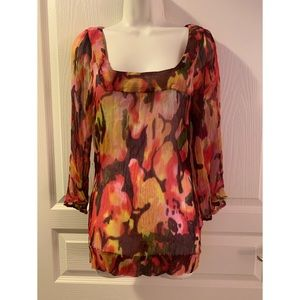 LUCKY BRAND LIVE IN LOVE 100% RAYON SHIRT
